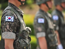 South Korean soldiers in uniform