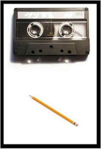 pencil-and-cassette-tape