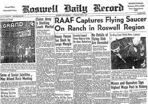 roswellnewspaper 9 Mysterious UFO Sightings In The World