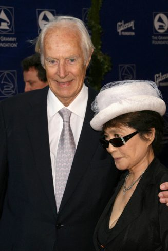 George Martin with Yoko Ono