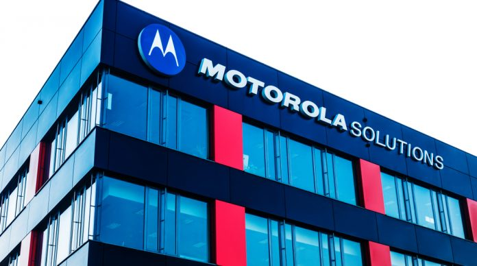 Motorola logo on its building