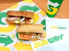 Subway sandwich and drink