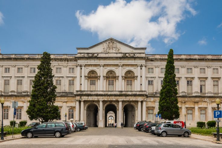 Front view of Ajuda national Palace