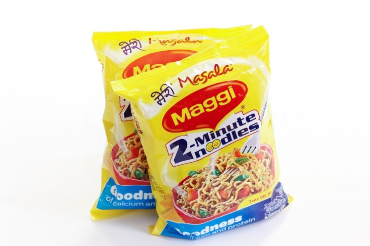 Two packets of Instant Maggi Noodles