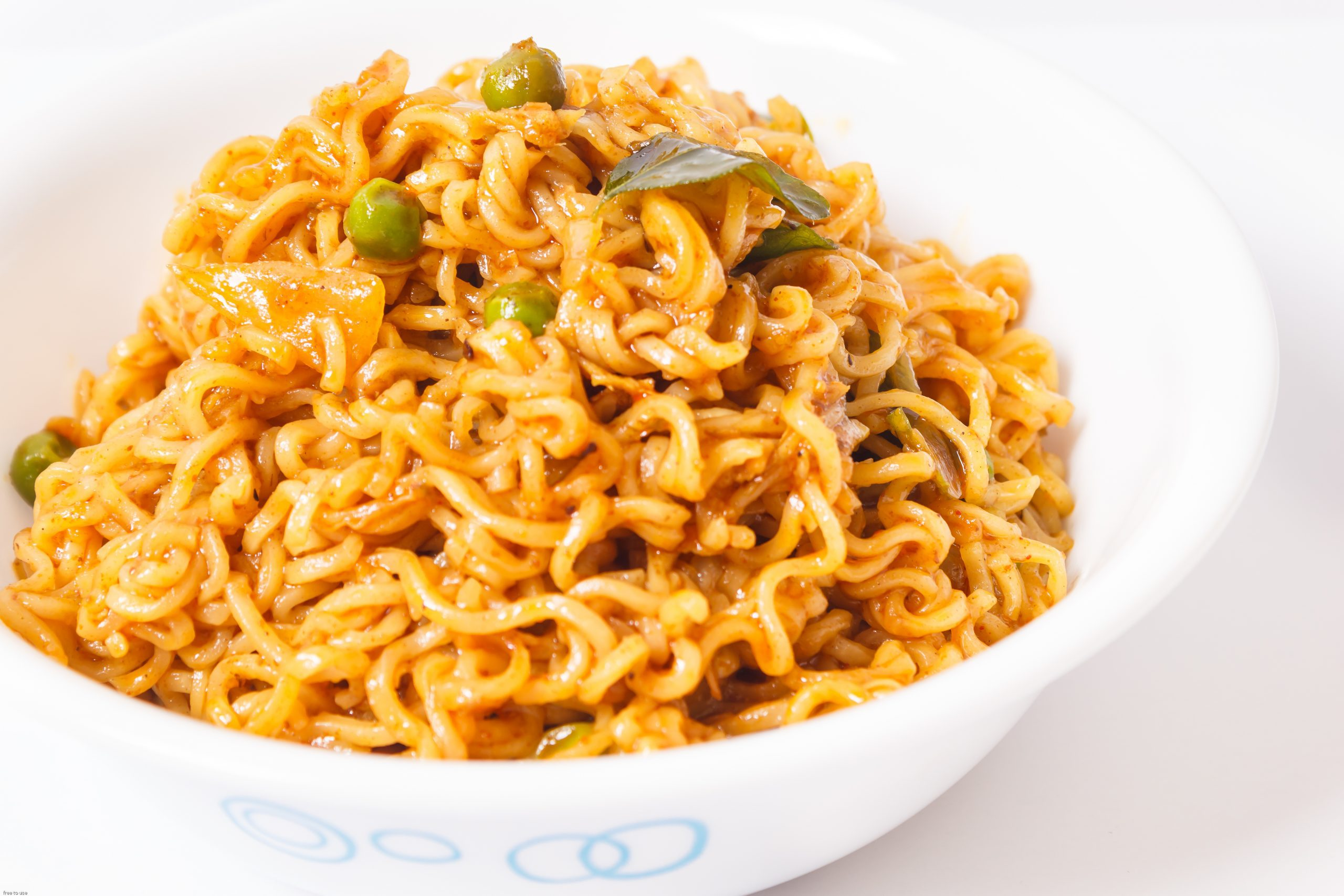 A bowl full of Masala noodles