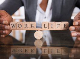 Work Life written in blocks