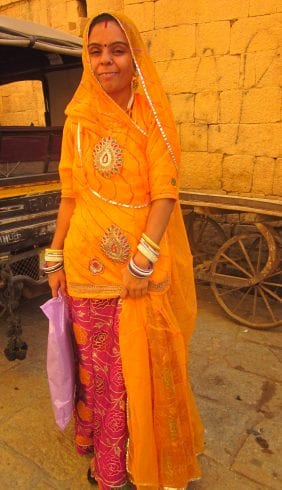 A beautiful woman in Jaisalmer who agreed to have her picture taken!