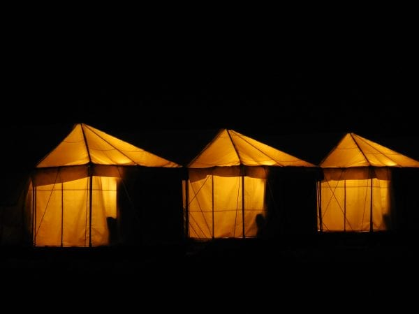 The tents where we camped in at night
