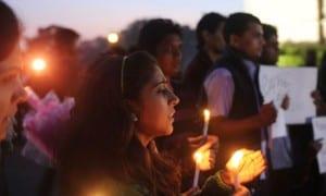 A protest following the 2012 New Delhi rape rape