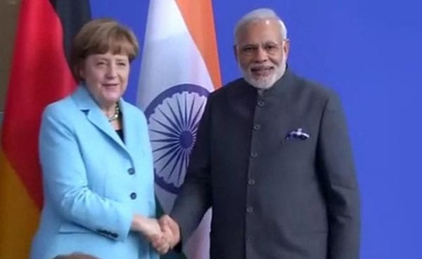 """India's Prime Minister NaMo Constructs """"Make in India"""" Pitch On The Occasion Of the Bangalore Visit of German Chancellor Angela Merkel Modi"""