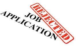 Job application rejected