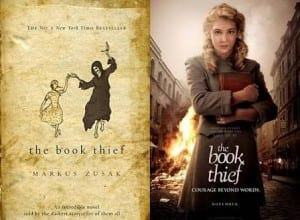 The Book Thief book cover and movie poster