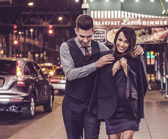 man-giving-his-jacket-to-his-girlfriend
