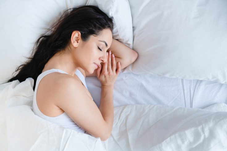 A woman sleeping peacefully