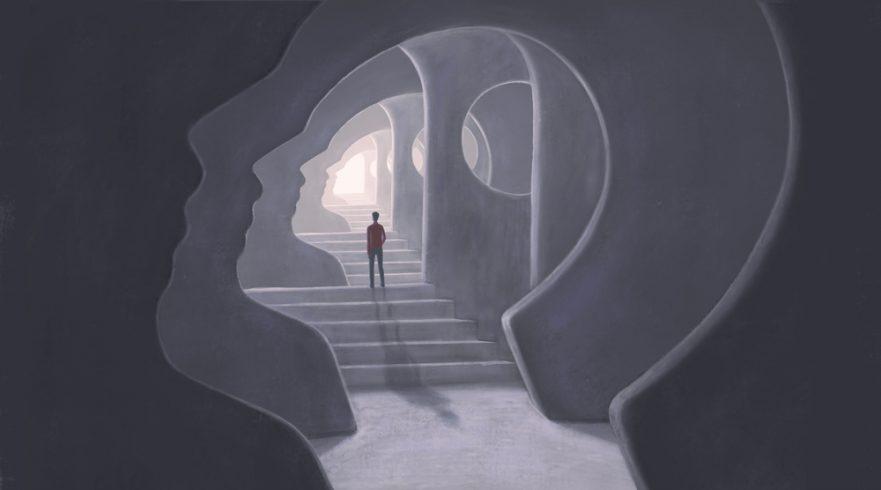 3D illustration of a soul