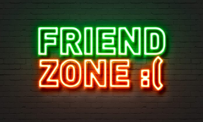 Neon sign of Friend zoned