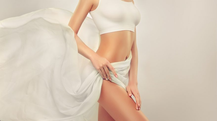 Toned Body of a young beautiful woman