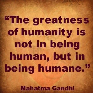We are all human beings but are we being humans? Castes