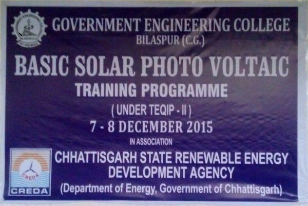 Training Program on Photovoltaic Technology 6