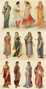 200px-Styles_of_Sari 10 most famous Indian Sarees