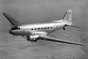 DC-3-in-flight-BW