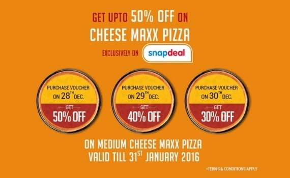 Snapdeal Sells Pizza! Partners With Pizza Hut snapdeal: it's new business partners