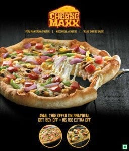 Snapdeal-Get-cheese-Maxx-Pizza-Voucher-Flat-50-off-Rs-100-Extra-Off-at-Pizza-Hut-for-Rs.-100-only-256x300