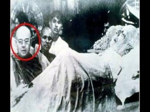 Netaji at Nehru's funeral.