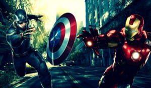 iron man vs captain america: marvel
