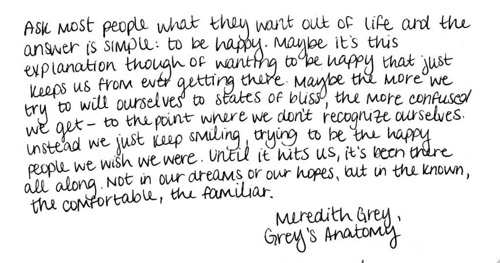 7 Best Grey's Anatomy Quotes #InsightsIntoLife