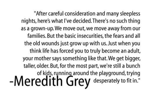 7 Best Grey\'s Anatomy Quotes #InsightsIntoLife