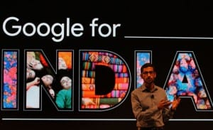 Google CEO Sundar Pichai delivered a keynote speech at Google India event in New Delhi on 16th dec. 2015 Express photo by Renuka Puri.