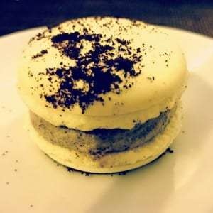 white choc and oreo macaroon