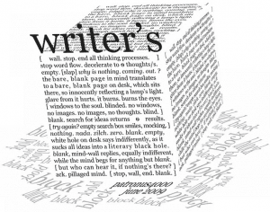 The Writers Block..sigh! writer's block