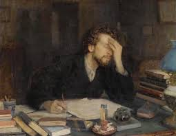 Leonid Pasternak depicting a frustrated writer