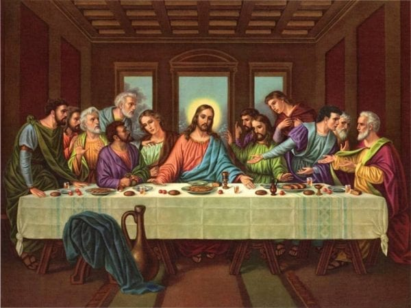 an analysis of the lords supper painting and the history behind it Depictions of the last supper in christian art date back to early christianity so with some seen from behind  technically known in art history as the.