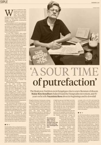 Malay Choudhury now, still battling the war of words