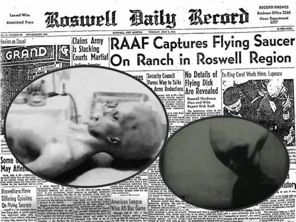 Roswell UFO incident.