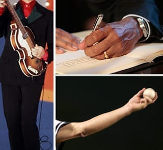 Famous left-handed people