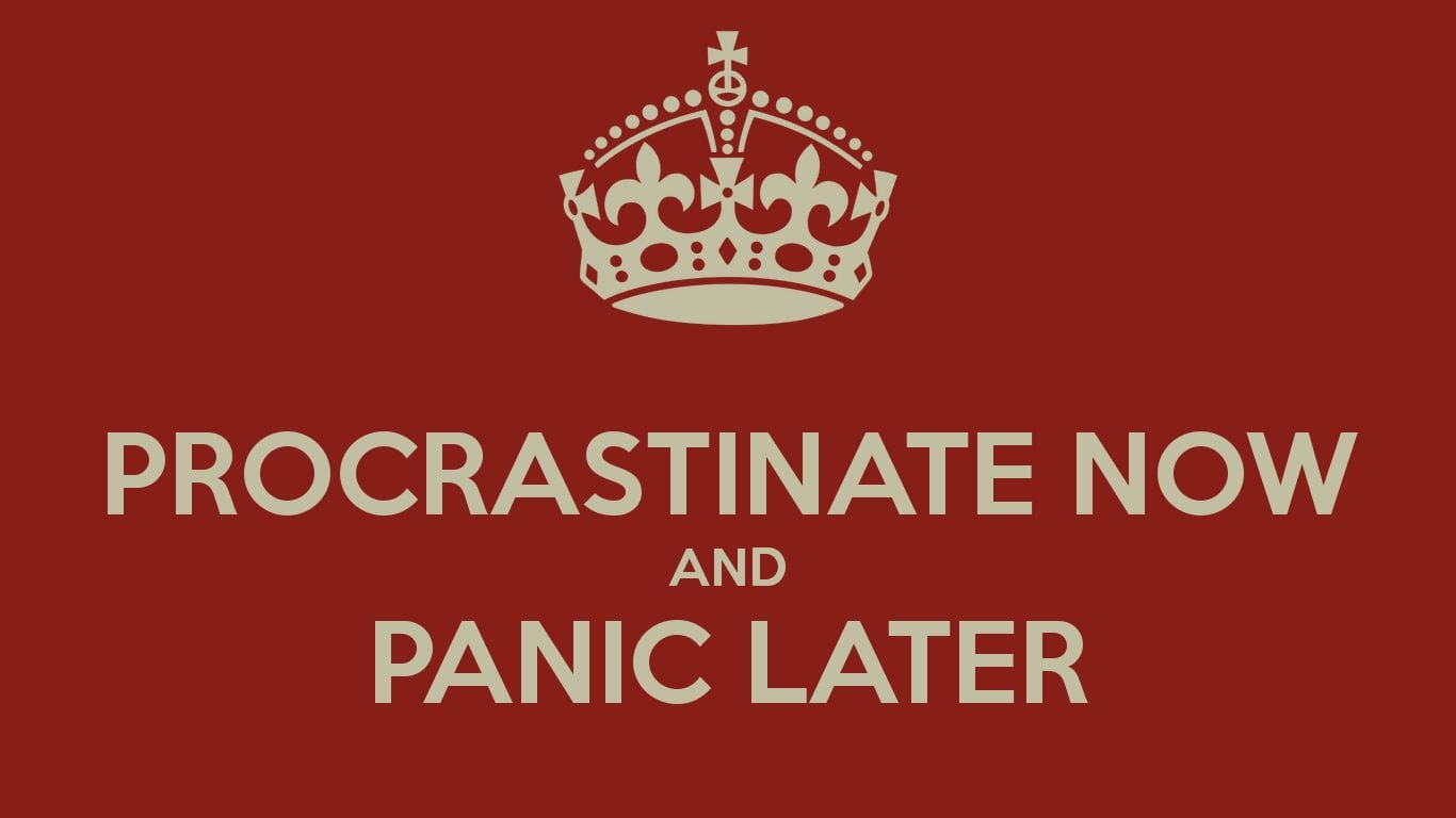 Ways People Procrastinate procastinate