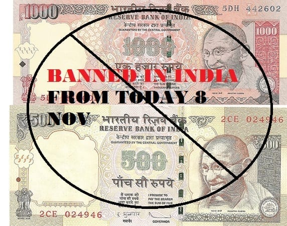10 things to know about the ban on 500-1000 notes notes