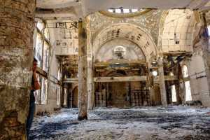 2268755 08/21/2013 Inside a burned and destroyed Coptic Christina church in the Minya province. During August 14-17 unrest following dispersal of Muslim Brotherhood camps and ousted Islamist President Morsi supporters by the police and the military, about 50 churches were destroyed and burned down including 30 Orthodox Coptic churches, 14 Catholic churches and monasteries as well as 6 Protestant prayer houses. Andrey Stenin/RIA Novosti