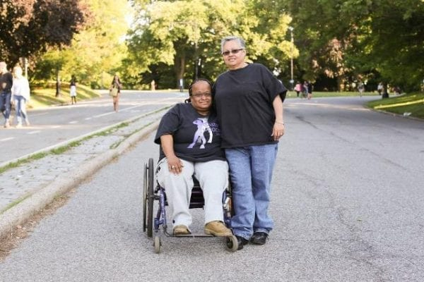 """We met on a dating site twelve years ago. I sent her a message saying: 'I want to let you know up front that I'm in a wheelchair, because I can't hide it.' And she wrote back: 'Why? Is it bright yellow?'"" romance"