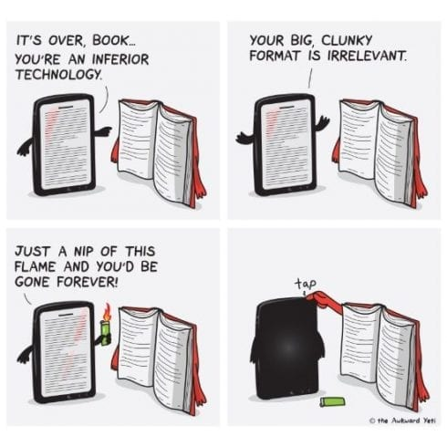 Image result for books vs kindle