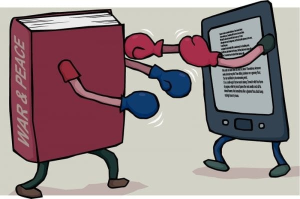 Image result for books vs kindle