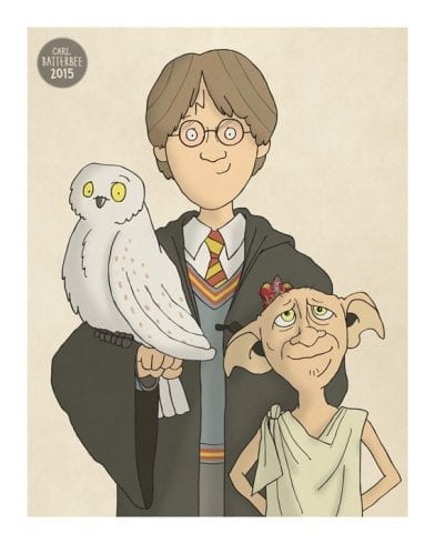 Image result for dobby hedwig