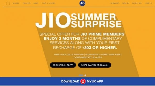 Image result for trai jio summer surprise