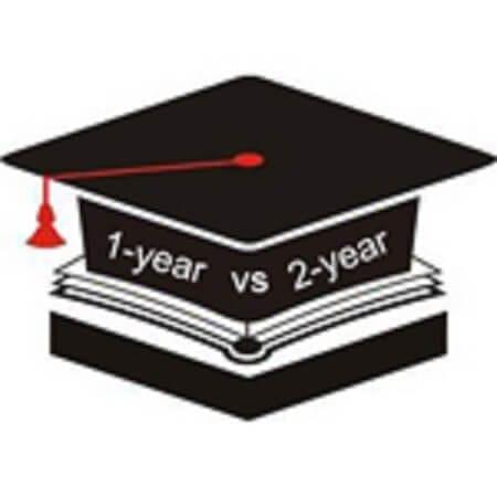 Image result for 1-year program vs 2-year program