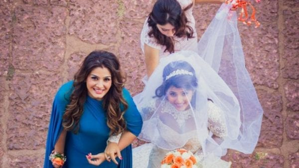 Image result for raveena tandon with adopted daughters adoption