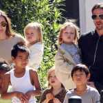 Angelina, Brad and their kids